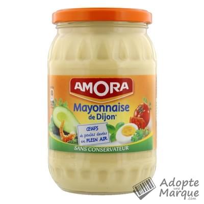 Amora mayonnaise de dijon le bocal de 725g - Mayonnaise sans vinaigre ...