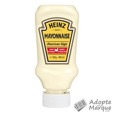 Heinz Mayonnaise American Style Nature Le flacon Top Down de 395G