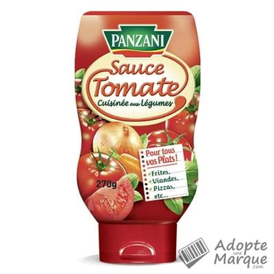 Panzani sauce tomate cuisin e aux l gumes le flacon for Sauce tomate cuisinee