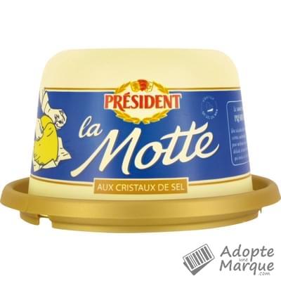 Président Beurre Gastronomique aux Cristaux de Sel de Mer - 80%MG La Motte de 250G