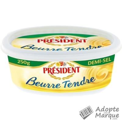 Président Beurre Tendre Demi Sel - 80%MG La beurrier de 250G