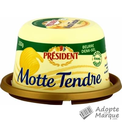 Président Beurre Tendre Demi Sel - 80%MG La Motte de 250G