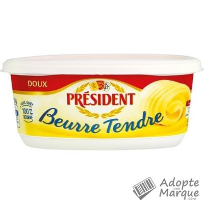 Président Beurre Tendre Doux - 82%MG La beurrier de 250G