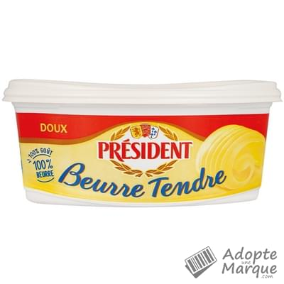Président Beurre Tendre Doux - 82%MG La beurrier de 500G