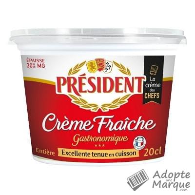 Président Crème Fraîche Entière - 30%MG Le pot de 20CL